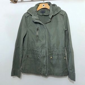 Military Hoodie Jacket Utility Army Green Women's